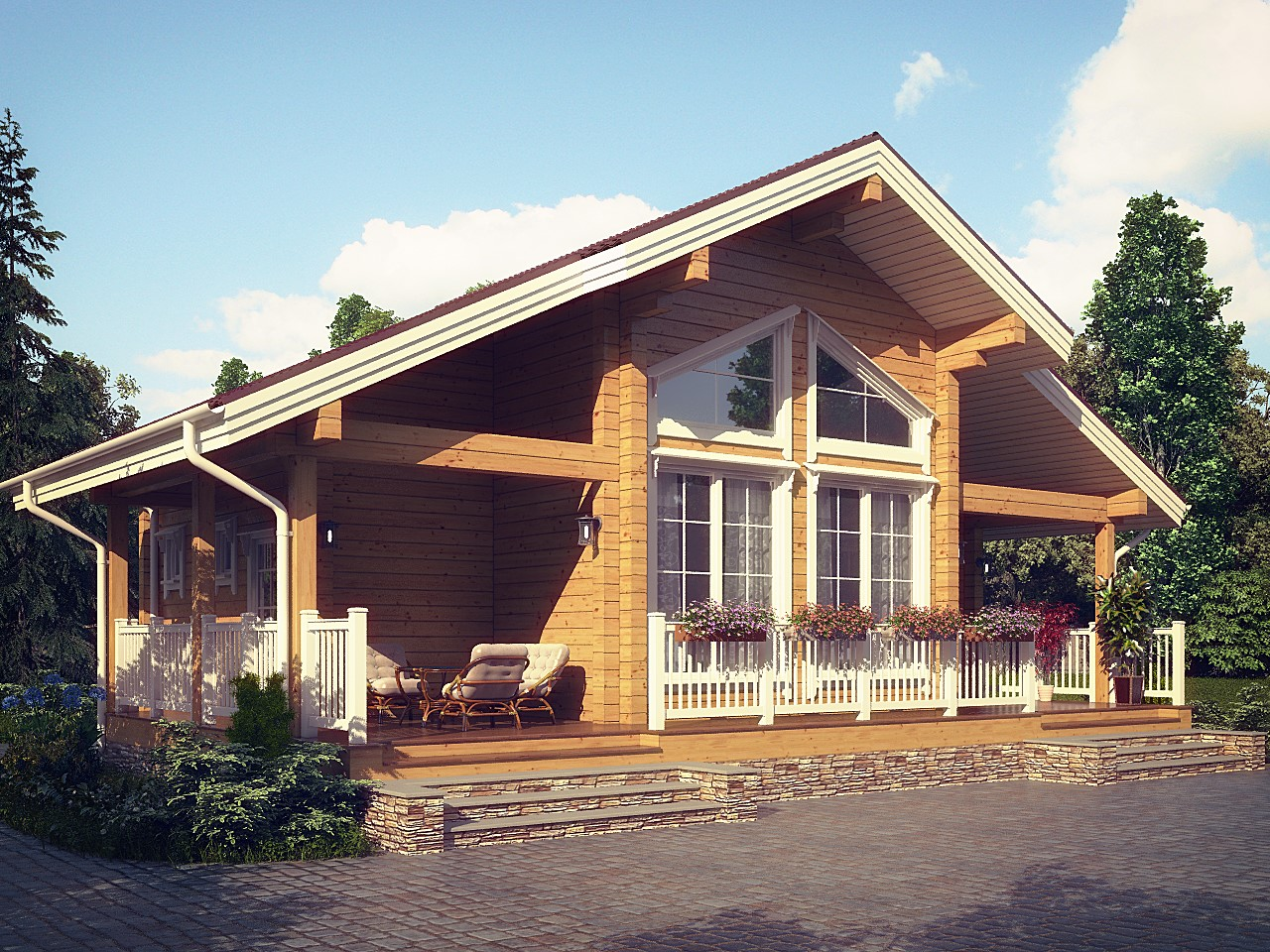 одна популярных финские дома из бруса проекты фото нем